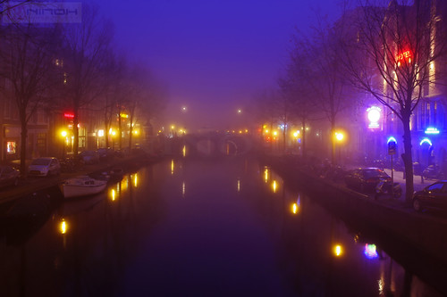 Fog night in Amsterdam