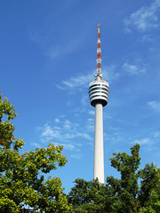 First TV Tower of the World now closed (Batikart ... handicapped ... sorry for no comments) Tags: city travel blue trees windows summer sky urban news color colour building green tower leaves television architecture clouds canon germany geotagged deutschland europa europe closed cityscape stuttgart pov perspective citylife himmel tranquility september safety journey stadt architektur fernsehturm ursula bume contrasts baum tvtower touristattraction sander g11 badenwrttemberg swabian 2011 degerloch historicallandmark nachrichten kulturdenkmal 2013 viewonblack culturalmonument batikart canonpowershotg11