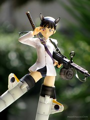 Mio Sakamoto - Strike Witches (MastraCustom) Tags: flying beam mio katana swimsuit alter zero blackhair sakamoto sexybody animalears animaltail strikewitches strikeunit