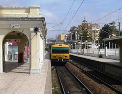 Estoril Lisbon Portugal 30th March 2013 (loose_grip_99) Tags: railroad portugal station electric train seaside lisbon transport railway trains transportation emu cp railways cascais unit comboios estoril comboiosdeportugal 2013