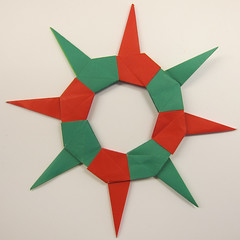 Ring 05 (Tomoko Fuse) (ChrisL_AK) Tags: origami ring wreath tomokofuse