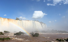Iguazu Falls - Brazil (some_stuff) Tags: blue nature water paran beautiful brasil arcoiris clouds canon river rainbow natureza bluesky falls fozdoiguau cataratasdoiguau iguazufallsbrazil