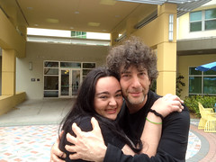 Author Neil Gaiman and Selby Library staffer (Sarasota County Libraries) Tags: fun reading library read sarasota neilgaiman publiclibrary authors twitter 2013 sarasotacounty sarasotacountylibraries selbylibrary