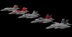 Hornet's Nest (Corvin Stichert) Tags: plane fighter lego aircraft military navy jet super hornet f18 carrier