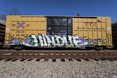 Hindue (Revise_D) Tags: art graffiti trains rails tagging freight revised derailed gtb fr8 benching fr8heaven fr8aholics hindue6