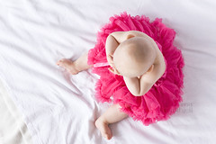 Pretty in pink ([emma]) Tags: pink portrait baby girl skirt fromabove tutu