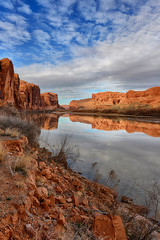 Along the Colorado - March 2013 (Jeff Clow) Tags: nature clouds river landscape coloradoriver moabutah potashroad dcpt tpslandscape