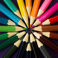 Pencil flower (Kate H2011 (slowly catching up!)) Tags: pink blue red orange brown abstract flower colour green yellow closeup pencil pencils circle square grey rainbow colours colourful thumbsup twothumbsup 2thumbsup 2013 thumbwrestler thechallengefactory