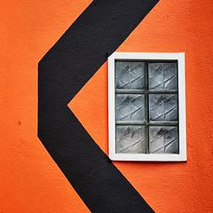 The orange and black window (Sallyrango) Tags: urban orange abstract detail window wall urbanart srilanka galle urbandetails