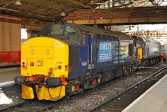 37425, Crewe 03/04/13 (MCW1987) Tags: station br diesel rail class crewe british locomotive drs 374 37425 stabled