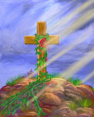 rose cross christian digitalpainting artrage blart... (Photo: EllieTaylorArtist on Flickr)