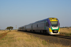 Two Three Car VLocity Units at Rockbank (vlocity160) Tags: rockbank 1240 vlocity vlinevlocityoriginalmodified railpage:class=204 rpauvicvlocity railpage:loco=1240 rpauvicvlocity1240 3vl40 3vl24 railpage:sighting=108
