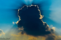 Cloud Cover (Ibrahim.Sayed) Tags: cloud nature sunrays cloudcover islamabad silverlining rawallake