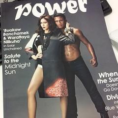 ปก Power Magazine เล่มล่าสุด บัวขาวกับจุ๋ย แปลกตามากก #Kingpower