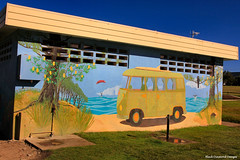 Seaside VW Mural, Old Bar Beach ,Manning Valley , NSW Australia (Black Diamond Images) Tags: volkswagen mural australia toilet nsw volkswagon oldbar midnorthcoast manningvalley volkswagonmural
