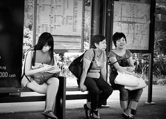 The three stages of life (Sean Lowcay (sealow08)) Tags: street city portrait people blackandwhite bw woman girl beauty fashion nikon singapore asia f14 chinese 85mm babe d800 flickraward nikond800 nikonflickraward