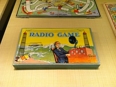 Radio Game board game, c. 1920 (wambamashleyanne) Tags: sfo boardgame 1920 shortwave iphone terminal2 miltonbradley radiogame iphoneography