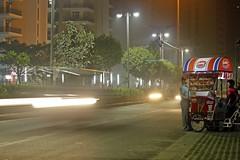 Ice-cream vendor (yaten_singh) Tags: car night icecream lighttrail vadilal