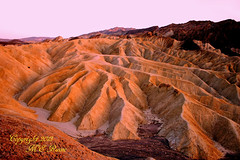 Sunset Hour View by Zabriskie Point in Death Valley National Park of California (takegoro) Tags: nationalpark deathvalley golden point landscape magic california desert nature sunset dusk hour twilight mountains zabriskie