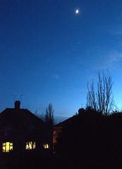 Moon in shot (KatyMag) Tags: moon night moonlight suburb nightfall