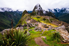 Machu Picchu - 11 Mar 2013-19/36 (Ted's photos - For me & you) Tags: travel vacation mountains travelling green peru fog travels stonework hill terraces tourists unescoworldheritagesite unesco valley hillside machupicchu lowclouds settlement mytravels terraced lowcloud outoftown mountainvalley myvacation mountainscene sacredvalleyoftheinca tedsphotos