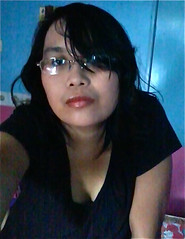 Do I look okay? (mikeeliza) Tags: red portrait black hot girl beautiful shirt hair asian glasses pretty young may lips blouse na full sultry pinay filipina brunette cleavage mga pinoy batang babae maganda buong blusa baso itim pulang labi buhok medyo alinsangan mikeeliza asyano kulaykape