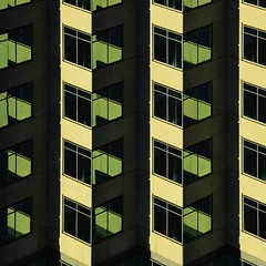 VERTICALS (Parallel.....) Tags: city windows urban sun black brick green art glass lines yellow architecture facade buildings square us office day shadows geometry space patterns details perspective facades frame balconies minimalism parallel officespace verticals cuadrado urbangeometry buildingdetails repetitious glassarchitecture quadratum zoomingbuildings