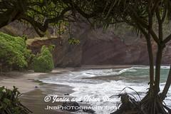 Kaihalulu Red Sand Beach on the Road to Hana JN074060 (JaniceNolan_braud) Tags: ocean beach hawaii dangerous maui pacificocean tropical roadtohana roughwater redsandbeach roughocean kaihaluluredsandbeach