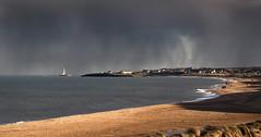 Sunshine and Showers (Glenn D Reay) Tags: storm squall rain shower sunlight sun golden lighthouse beach sand sea seaside bylth sigma1770hsm glennreay stmaryslighthouse