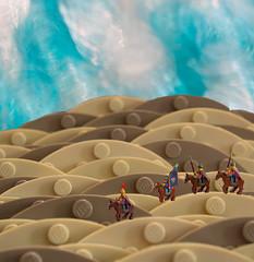 Desert Patrol (BrickCurve) Tags: lego photoshop forcedperspective goh desert sand