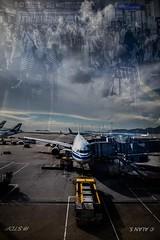 Ready to Go (Photo Alan) Tags: canon japan hongkong airport flight plane cloud doubleexposure fly