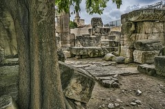 More remains of the Roman theater in Arles, France (mharrsch) Tags: theater cornice architecture roman ancient arles arelate france mharrsch