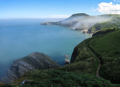 Sea mist along the Ceredigion coastal path. (julesbondy) Tags: fog sea coast sand seaside coastal path wales haar mist