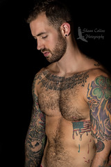 Model John (Shawn Collins Photography) Tags: model modeling hairy built masculine tattoo hairymodel beard scruff beardporn otter bearcub tone chest shirtless rugged