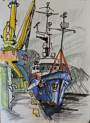 seaport, Petropavlovsk (georg_s22) Tags:  kamchatka sketch russia seaport art landscape plein