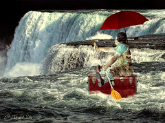 GoForTheGusto (clabudak) Tags: niagra waterfall river trunk water current paddle umbrella