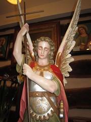 Saint Michael Catholic Statue (shawnmkell) Tags: gothic catholic church statuary koeltztown missouri jefferson city diocese german restored interior