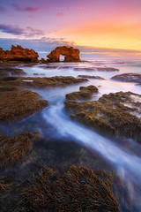 Bridgewater Bay (Mark McLeod 80) Tags: australia blairgowrie canonef1635mmf4lis keyholerock markmcleod markmcleodphotography mornigntonpeninsula sorrento sunset vic victoria longexposure seascape