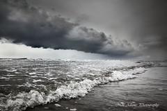 Storm Brewing (Neil Adams Photography (Wirral)) Tags: moody stormy dark darksky lowlight lowkey canon landscape seascape clouds blackwhite black white