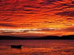 burning sky-8220141 (E.........'s Diary) Tags: sunset newburgh boats waterfront river tay eddie rossolympusomdem5markiiscotlandaugust2016newbu rossolympusomdem5markiiscotlandaugust2016newburghfifescotland
