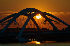 Sunset IJMeer II (Cookie-1965) Tags: sunset water niederlande amsterdam ijmeer d800 afsnikkor300mm128gedvrii