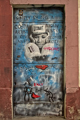 Boxing door (Santini1972) Tags: barcelona streetart nikond5100 nikon35mm18 facade door architecture nikonflickraward
