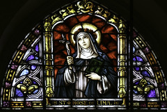 St Rose of Lima (Lawrence OP) Tags: dominican nuns monastery buffalo ny stainedglass window strose roseoflima tertiary saint