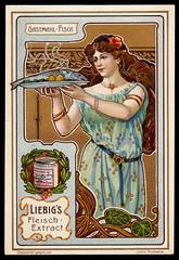 Liebig Tradecard S764 - Serving Fish (cigcardpix) Tags: tradecards advertising ephemera vintage liebig chromo artnouveau