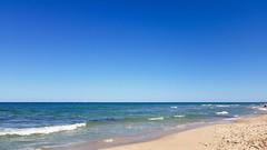 Mediterranean sea (Quique CV) Tags: sand beach sun mediterranean sea waves sky blue arena olas mediterraneo valencia playa coast costa cielo perellonet 2016 summer verano