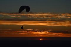 DSC_1760 (justinecharrel) Tags: sunset coucher de soleil auvergne france puydedome volcan montagne nature landscape paysage colors orange red blue sky clouds sun parapente parasailing nikon nikond3200 out