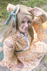 Kotori Minami (Stefania_Ginger) Tags: kotori love live cosplay shooting portrait green color summer orange 35mm oasi tree italy