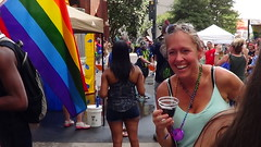 063  LGBT PRIDE, CHARLOTTE, 8/21/16 (Lugrada) Tags: lesbian gay bisexual transgender flag colors hair pride youth young proud happy together support choice aware showing free