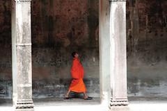 Young Aparentice at Angkor Wat (meg williams2009) Tags: cambodia angkorwat khmerart buddistmonk stonesculpture stonesculptures devatas unescoworldheritage