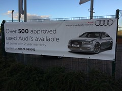 Grocer's apostrophe from people that really should know better (Ian Press Photography) Tags: grocers apostrophe car cars sale sales dealers dealership audi audis unprofessional amateur